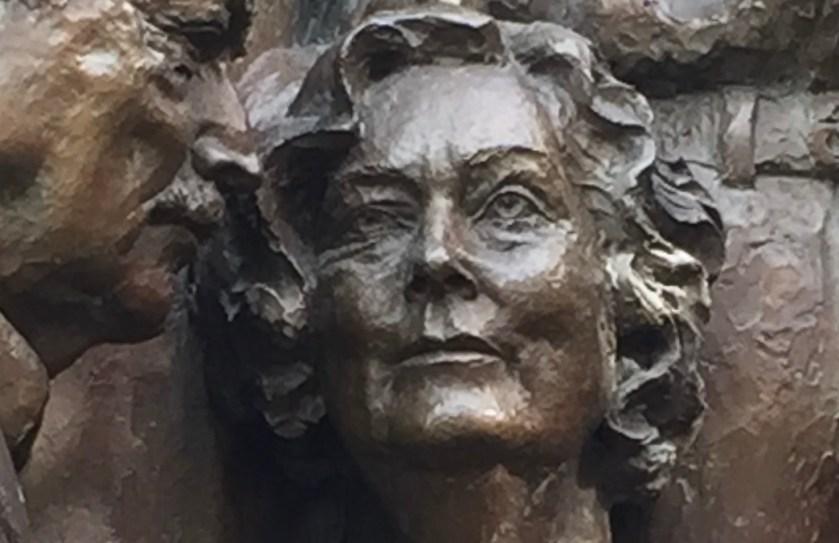 Phyllis Courtney in Street Scene sculpture