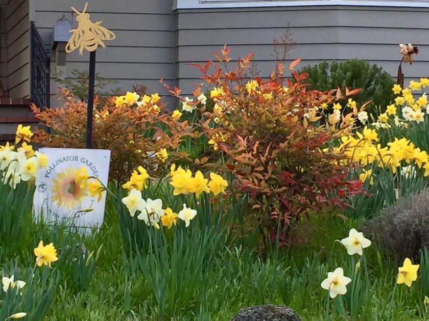 """Pollinator Garden"" sign"