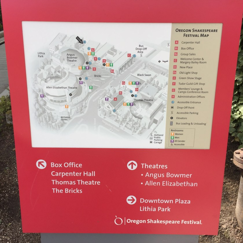 Oregon Shakespeare Festival map