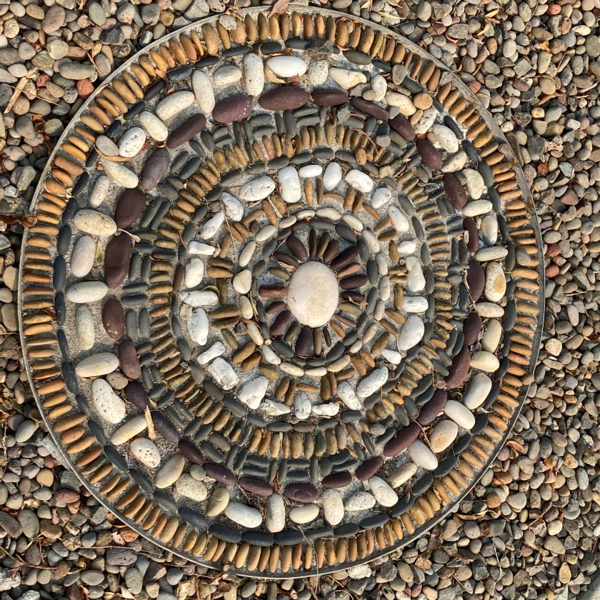 rock mosaic, Old Willow Lane, Ashland