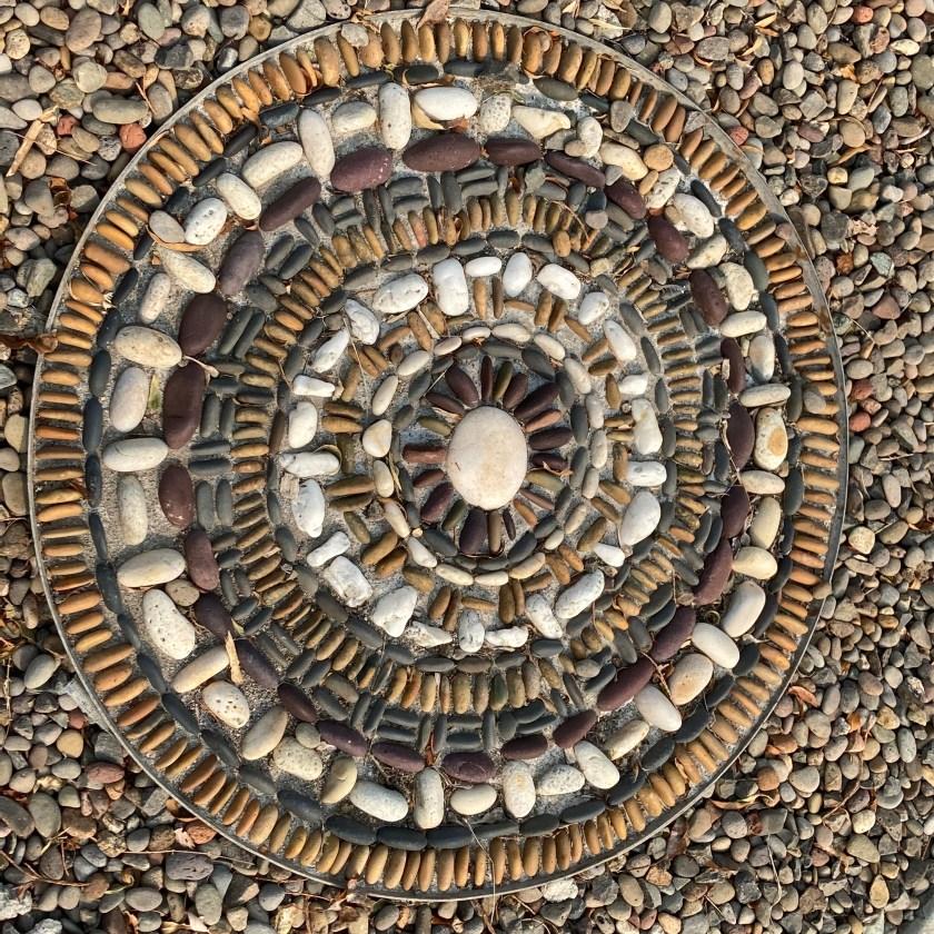 rock mosaic, Old Willow Lane, Ashland