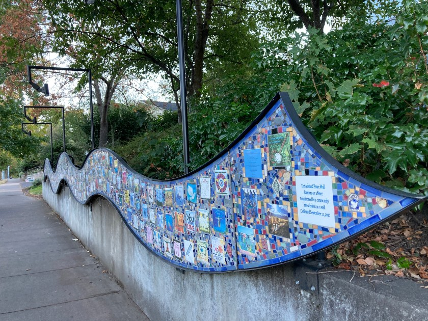 Peace Fence mosaic