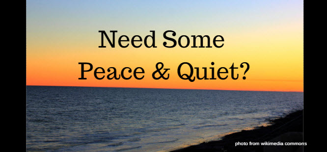 need some peace and quiet