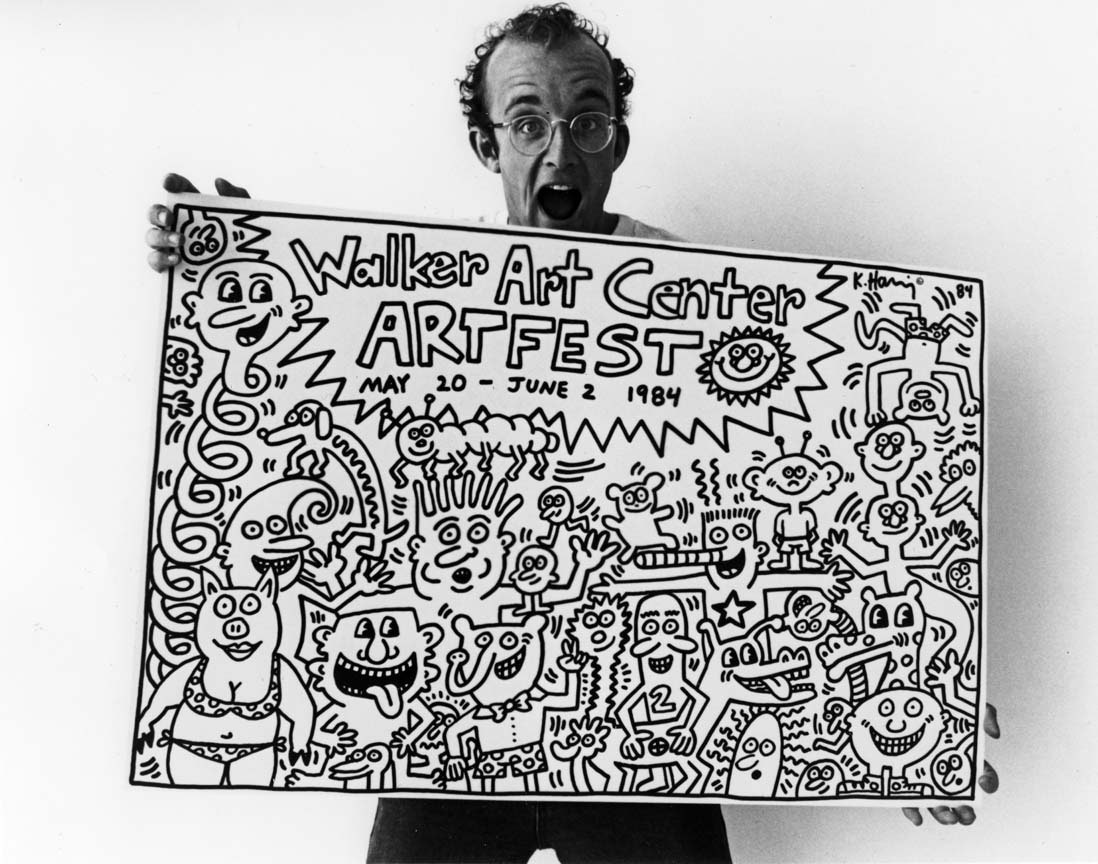 Graffiti Concourse Keith Haring' 1984 Walker Mural