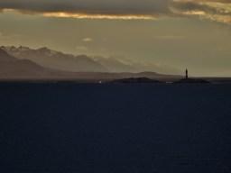 Navigating the Beagle Channel at dusk