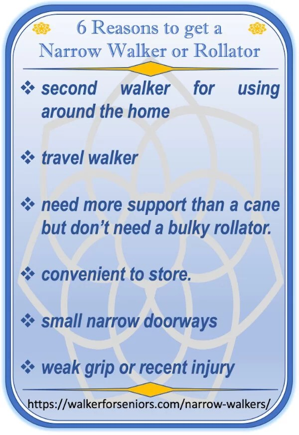6 Reasons to get a Narrow Walker infographic