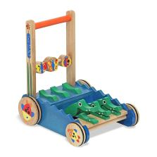 Melissa & Doug Deluxe Alligator Wooden Push Walker