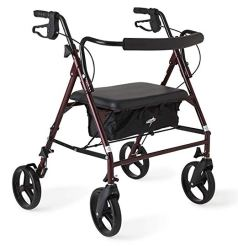 Medline Heavy Duty Rollator Walker with Seat