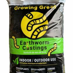 Growing Green Earth Worm Castings