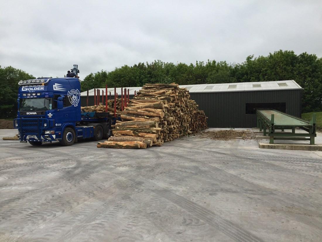 Walkers logs yard