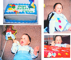 Josh's first birthday