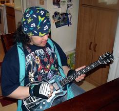 Josh's birthday guitar