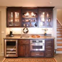 Wet Bar Cabinets with Refrigerator