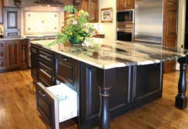 refrigerator drawer,hidden appliances,built in,kitchen ideas,black cabinets,storage island