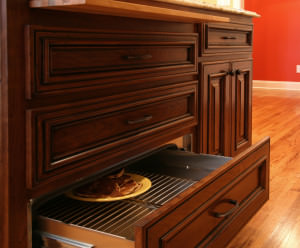 warming drawer,pull out cutting board,raised panel,entertaining ideas
