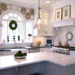 Kids Kitchen Appliances Island Electrical Outlet Transitional White Cabinetry ~ Project 4 | Walker Woodworking