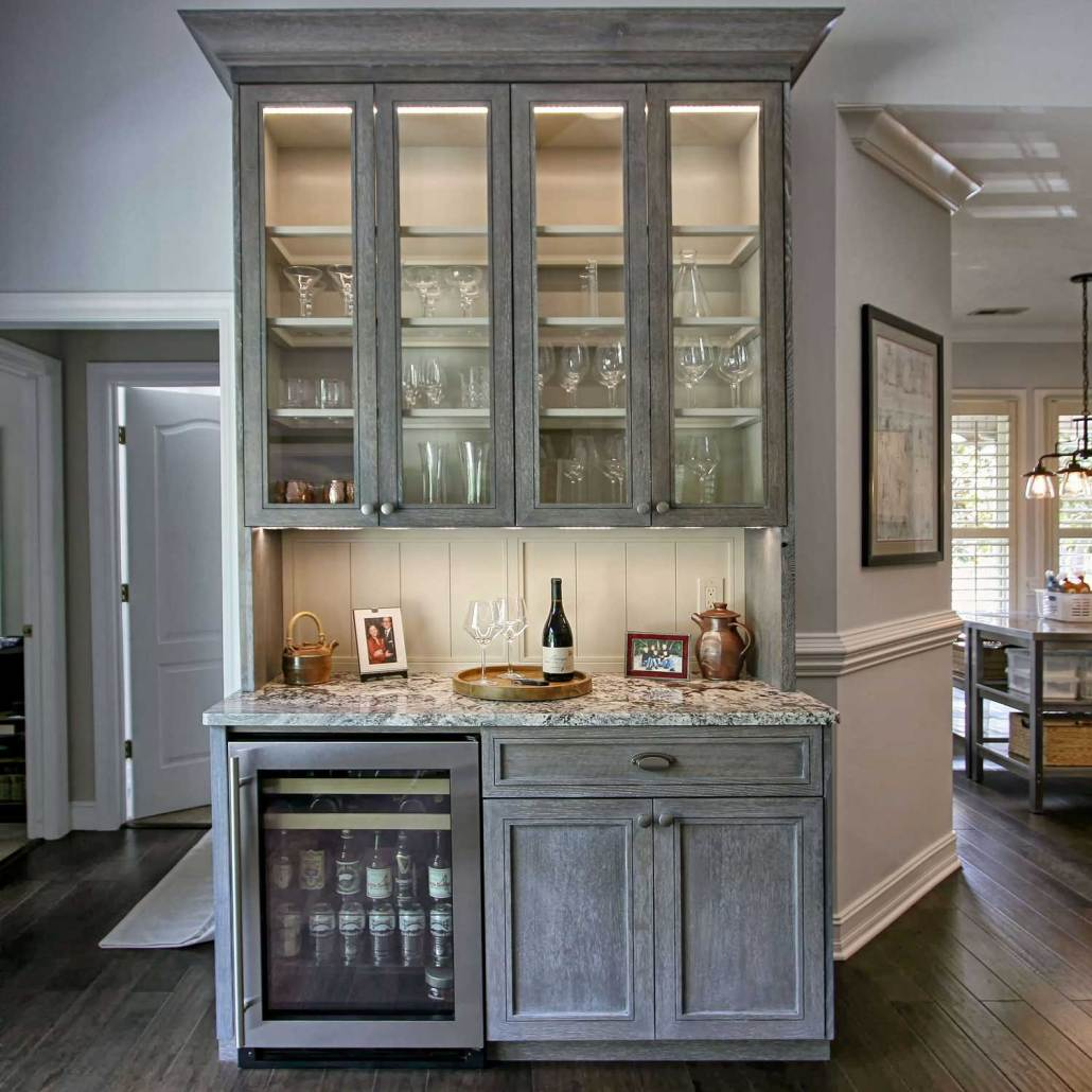 Revere Pewter Kitchen Cabinets: Cerused Oak Remodel With Custom Cabinets