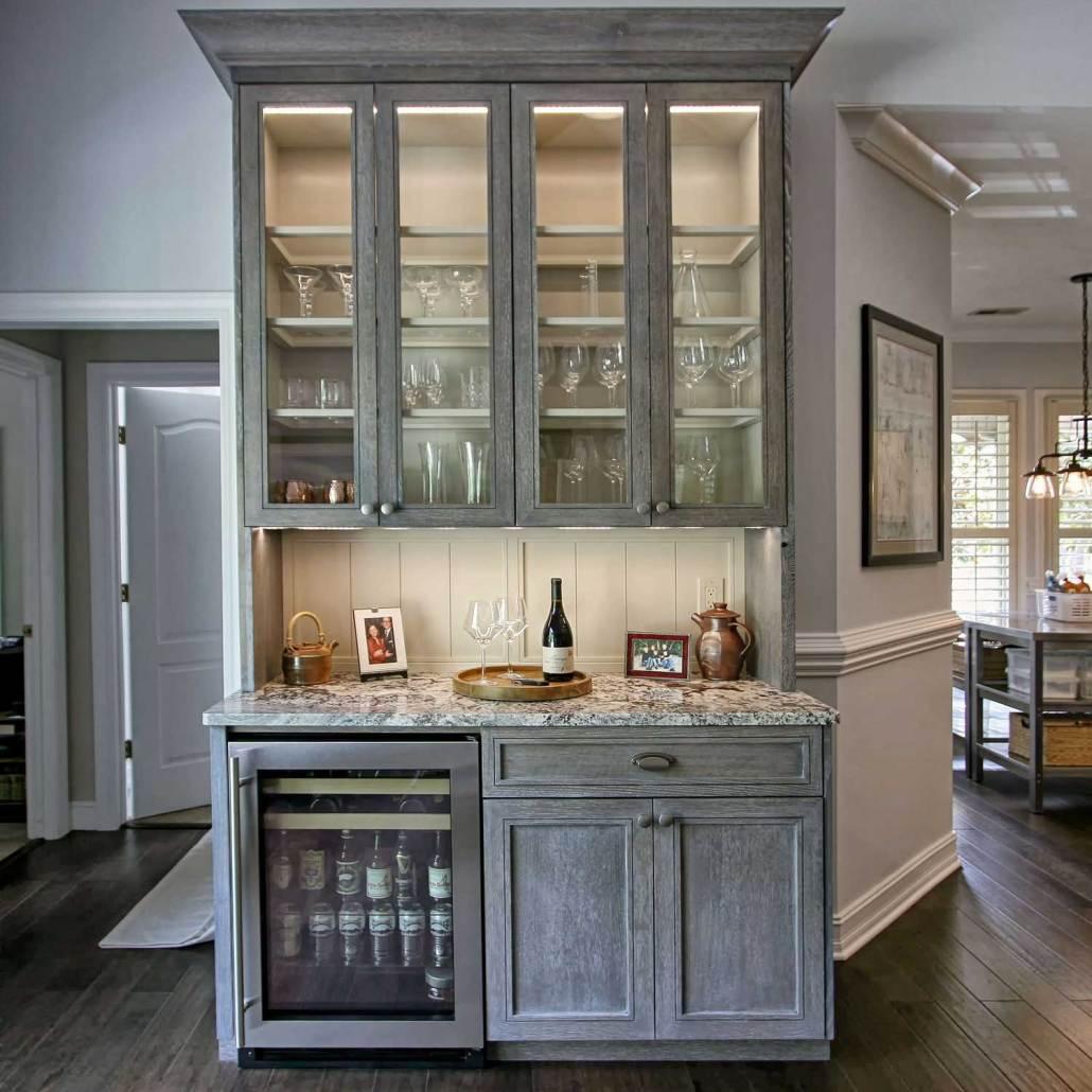 Cerused Oak Remodel With Custom Cabinets Walker Woodworking