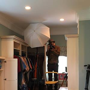 WSJ photographer getting photos of laundry-closet.