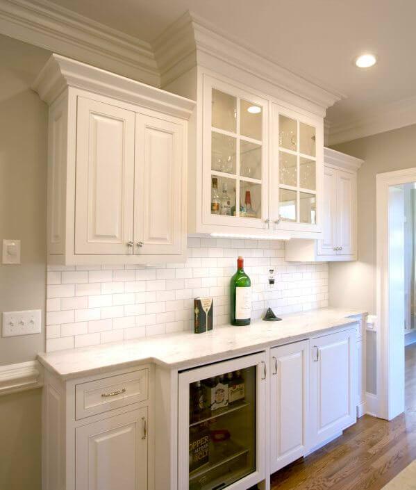 corner kitchen sink ideas electrolux appliances remodel transitional project 15   walker woodworking