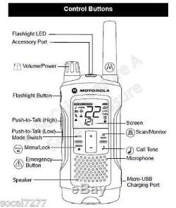 Motorola Talkabout T460 Walkie Talkie 2 Two Way Radio S