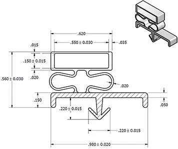 DOOR GASKET MAGNETIC – Custom Sized