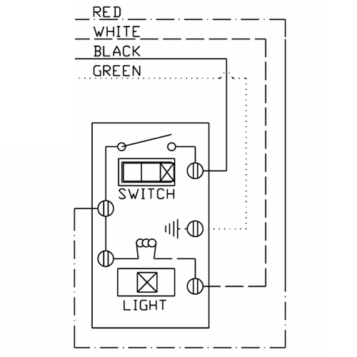 Pilot Light Switch Wiring Diagram : Way switch with pilot light wiring diagram leviton