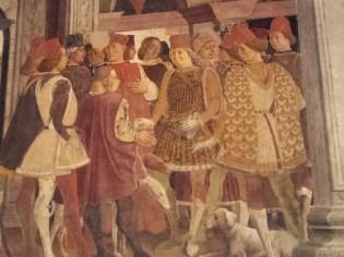 Palazzo Schifanoia. il Duca Borso premia il buffone Scoccola, Ferrara