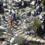 Walking group on Barranco del Infern path