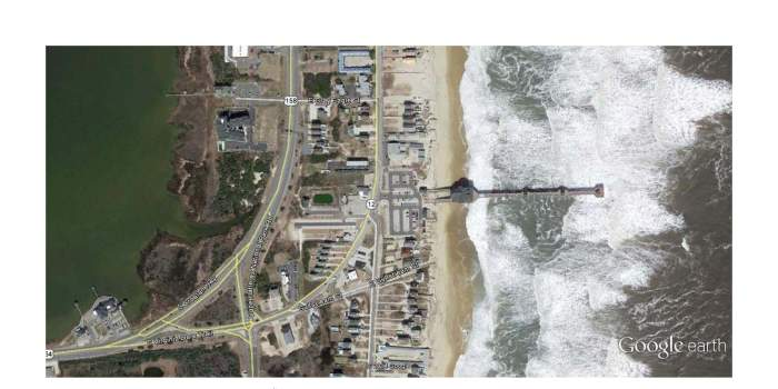 Jennette's Pier - Google Earth view
