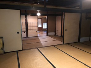 Large rooms with tatami mat
