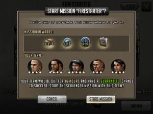Scavenger Mission - Start Mission