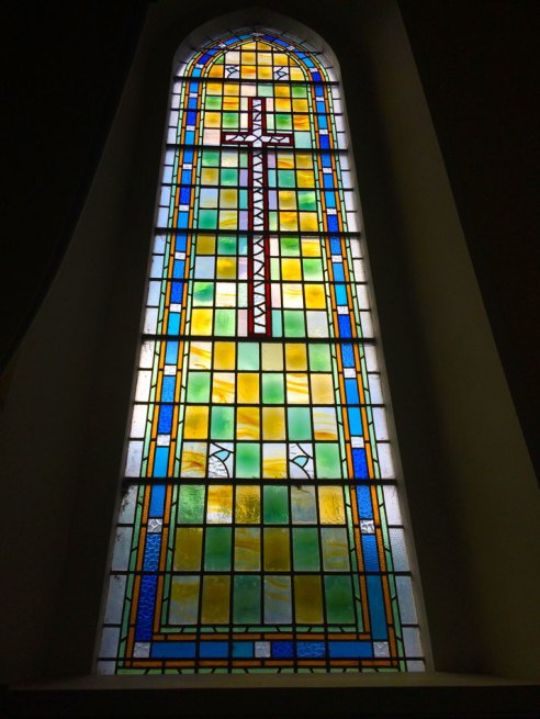 Stained Glass window of the Church of the Holy Trinity, Durrow, Co. Laois.