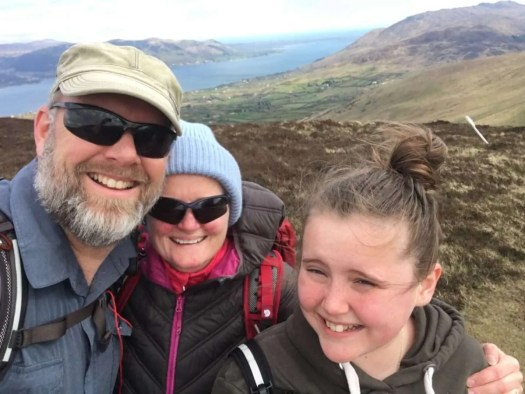 Family hike above Carlingford Lough on the Cooley Peninsula