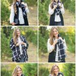 How To Wear A Blanket Scarf Walking In Memphis In High Heels