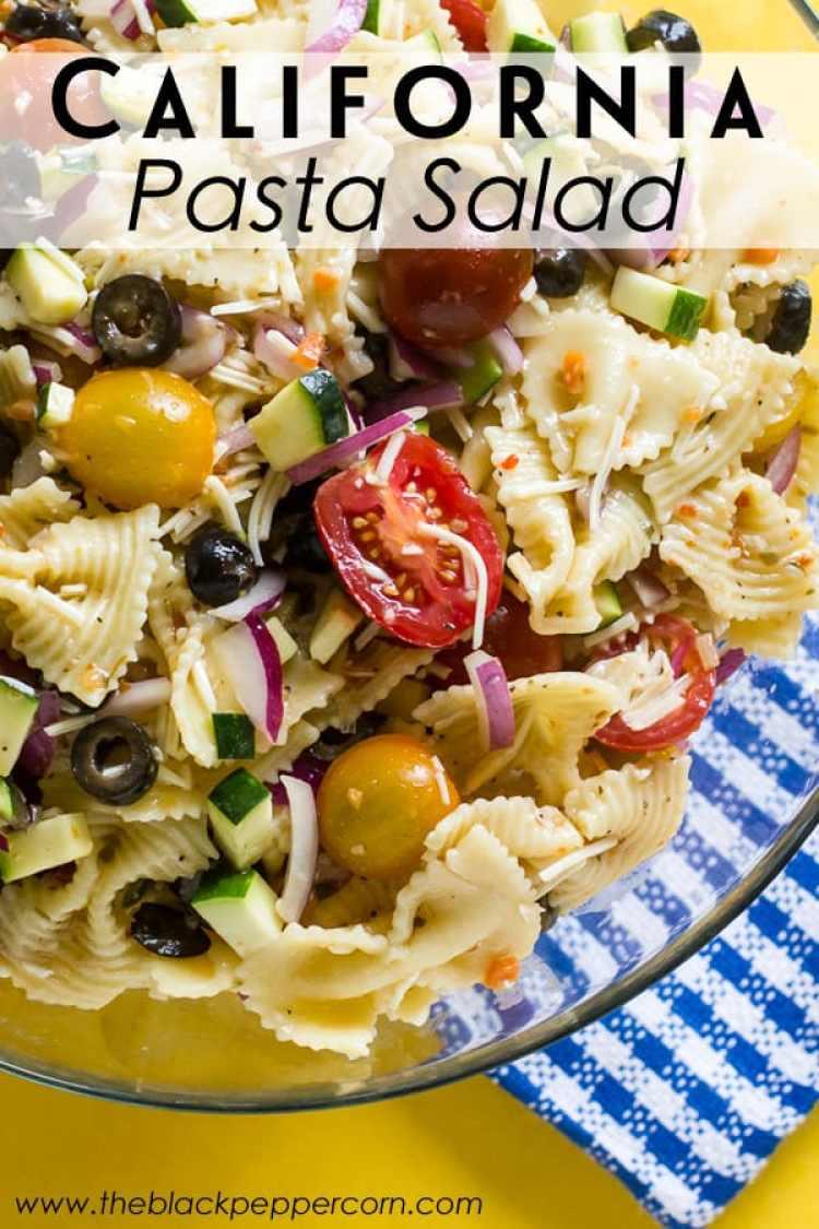 California Pasta Salad from The Black Peppercorn