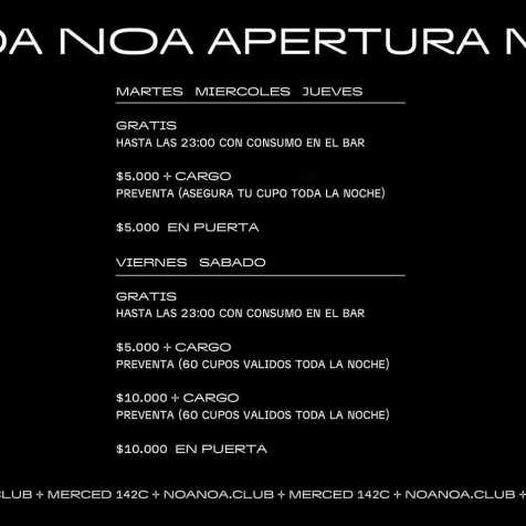Noa-Noa-Horarios