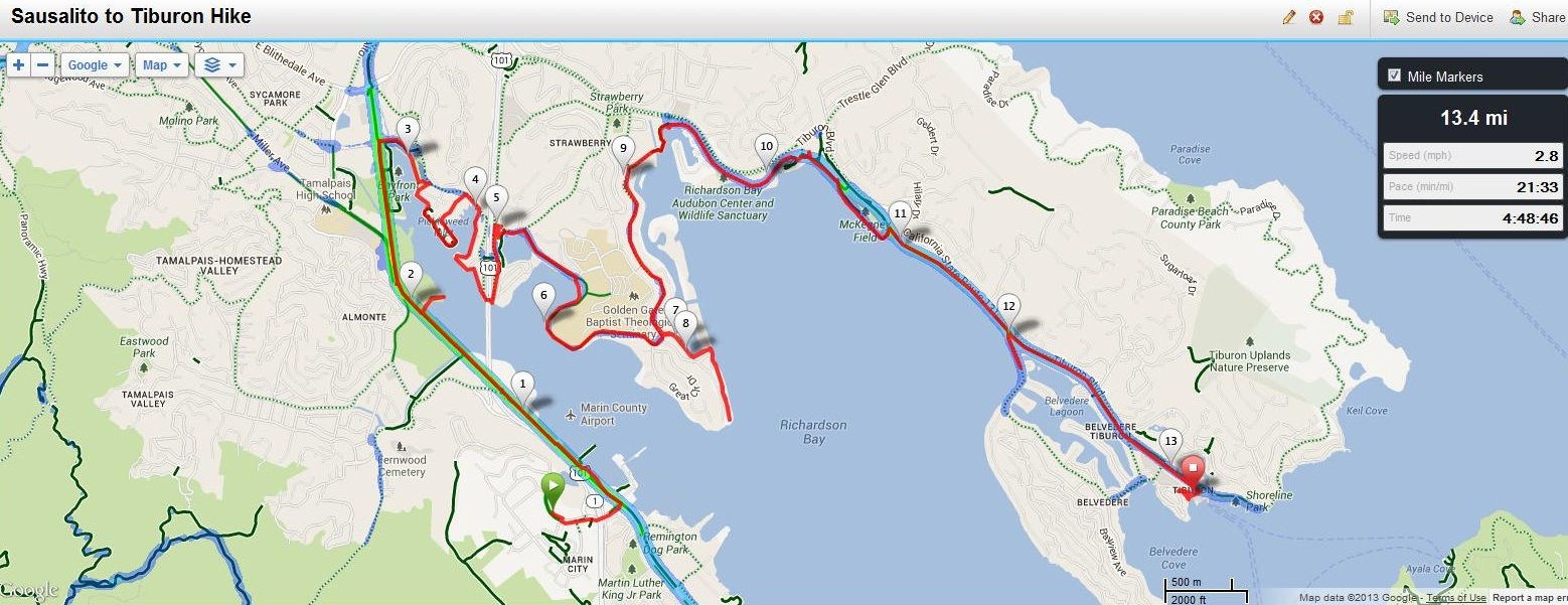 Maps Hike Stats And Transportation The San Francisco Bay Trail Its Closer Than You Think