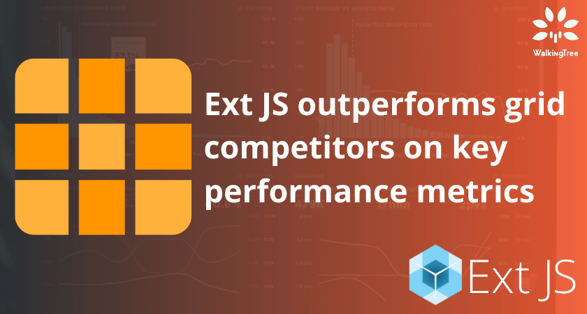 Ext JS outperforms grid competitors on key performance metrics
