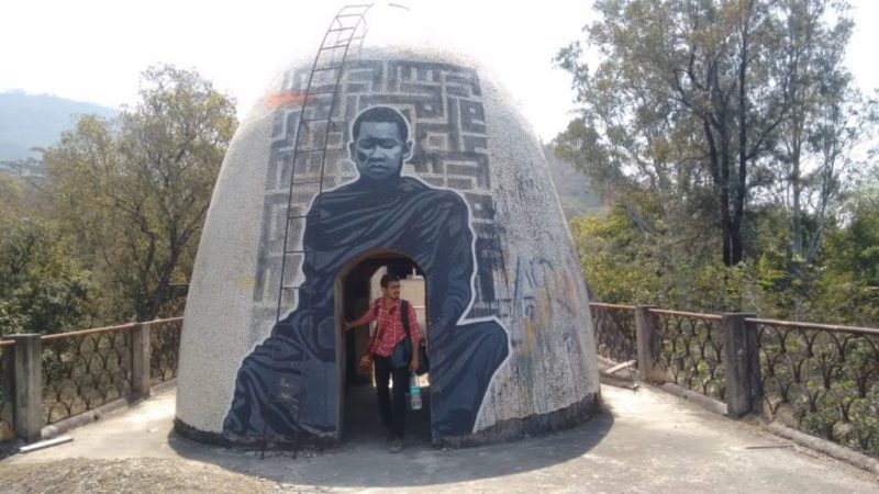 Meditation dome in rishikesh.