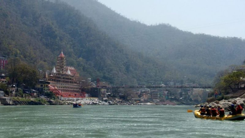 River rafting under lakshman Jhula
