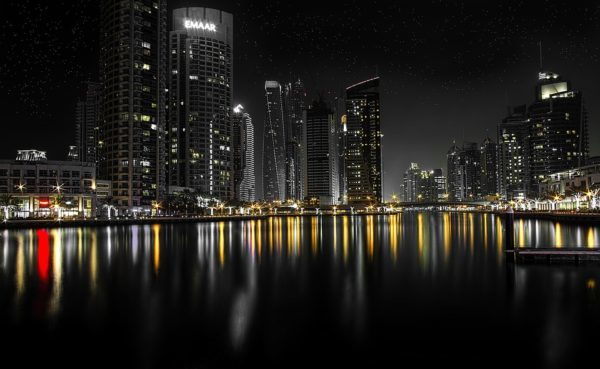 dubai during night