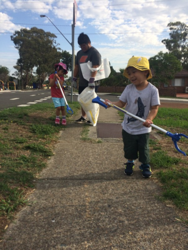 Walking With Kids on Clean Up Australia Day