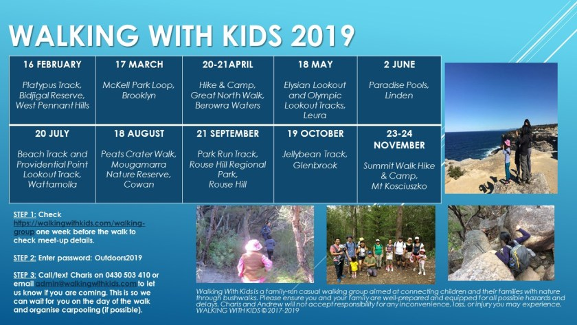 2019 Walking With Kids Walking and Camping Trips