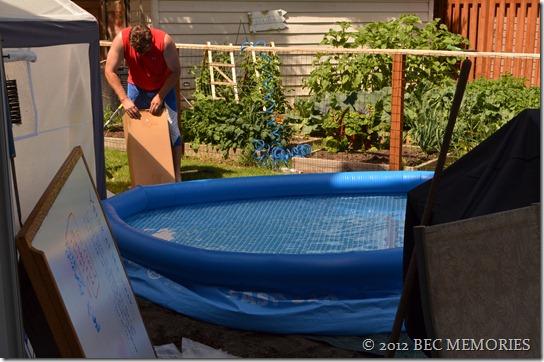 Free-born Backyard Baptism - Last Minute adjustments