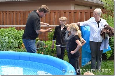Free-born Backyard Baptism - Dad explains Baptism