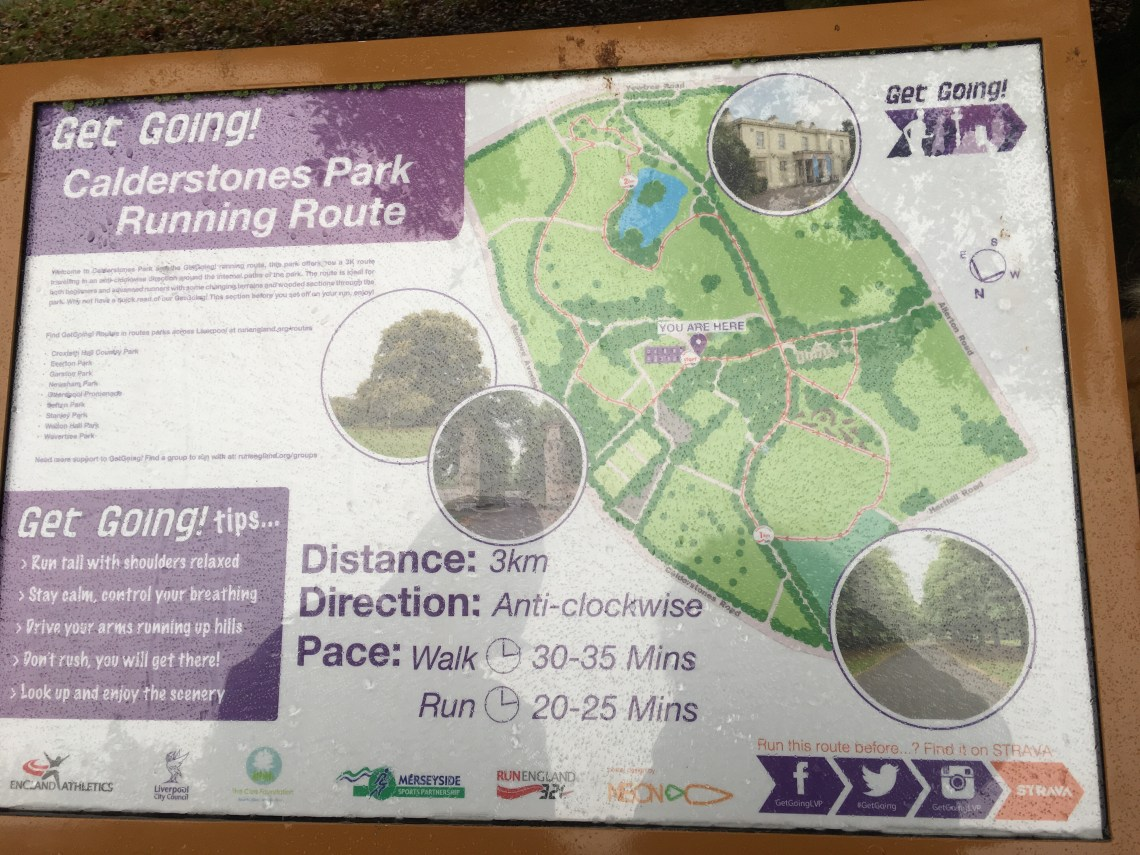Get going Calderstones Park map