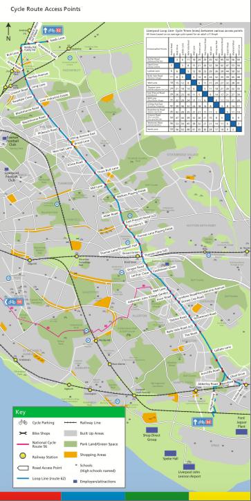 Liverpool Loop Line map