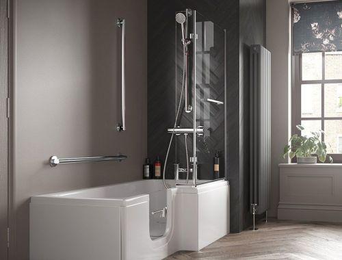 Convert tub to walk in shower