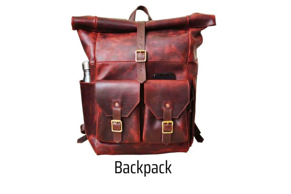 walklo handmade leather backpack for traveling